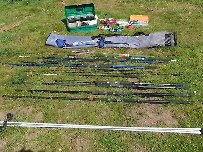Sea Fishing Tackle Job Lot, Rods, Reels,lures,weights • 100£