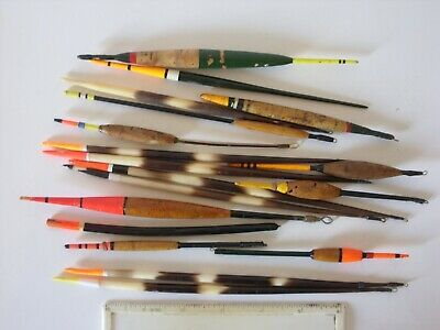 Joblot Vintage Fishing Tackle, Porcupine Quill & Cork Bodied Floats • 12.50£