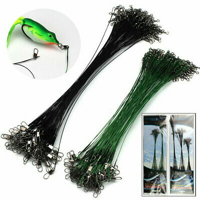 25* Fishing Lures Leader Stainless Wire Trace Set Spinning Pike Line 16/23/31cm • 3.99£