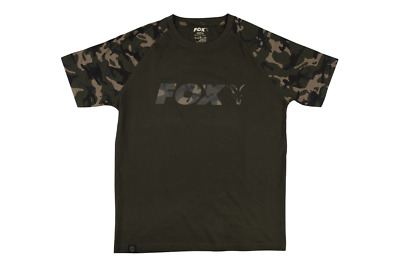 Fox Camo Khaki Chest Print T-Shirt All Sizes • 16.99£