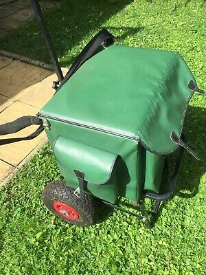 Fishing Seat/box With Penrose Folding Tackle Trolley • 35£
