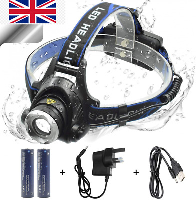 WASAGA Head Torch, 2000 Lumen 5000 Zoomable Rechargeable LED 2000  • 20.99£