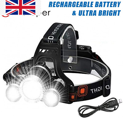 Victoper Wesho Rechargeable Headlight With 3 Lights 4 Modes, 6000 Lumen...  • 27.89£