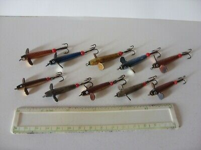 Joblot Vintage Fishing Tackle Lures, Metal Devon Minnows, Salmon Sea Trout Pike • 9.99£