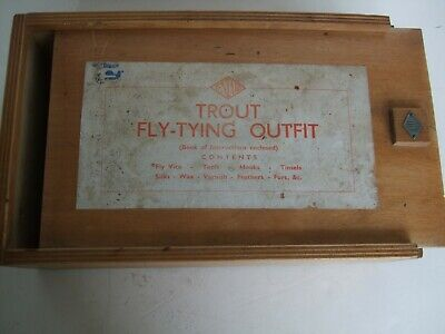 Vintage Veniard Trout Flying-Tying Outfit Box + Contents + Hardy Book Of Flies • 19.99£