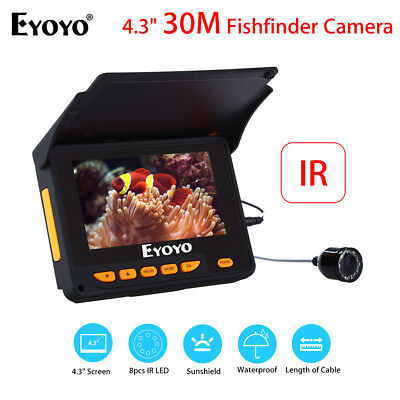 EYOYO 30M Underwater Camera Fishing Fish Finder 4.3  Monitor 150° Wide D4 Supply • 98.74£