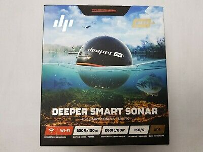 Deeper Pro Plus GPS Wifi Bluetooth Fish Finder Mapper Pro + NEW SEALED • 170£