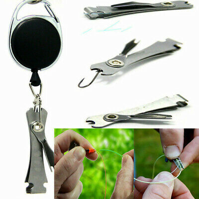 UK Stock Knot Fly Tool Fishing Clippers Quick Line Nippers Cutter Snip Retractor • 2.99£