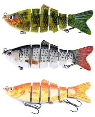 3 X REALSCALE Fishing Savage Swimbait Lures Pike Perch Candy Plug Bait Pike Gear • 7.98£