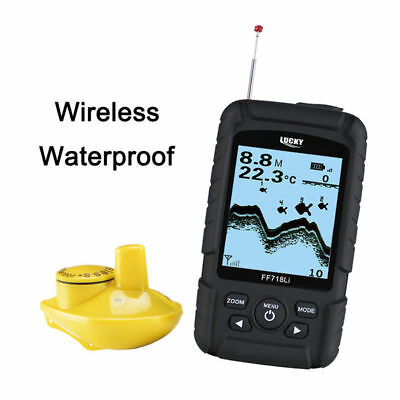 LUCKY 2.5  LCD 147feet(45m) Fish Finder Wireless 90° Sonar Waterproof Floating • 82.94£