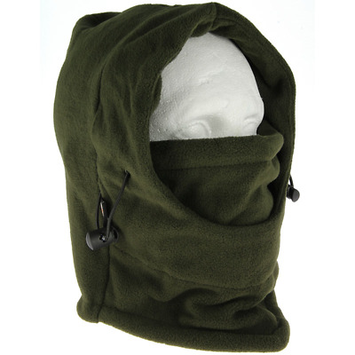 Deluxe Green Snood With Face Guard Fishing Hunting Warmer Balaclava Hat 500 • 7.95£