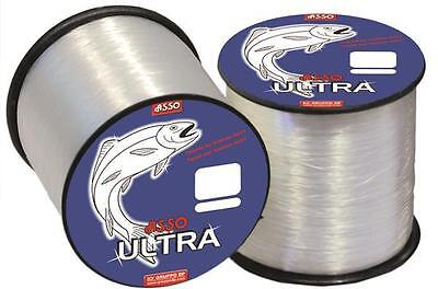 ASSO Ultra Soft Fluorocarbon Coated Fishing Line - 4oz Spool - All Sizes • 14.99£
