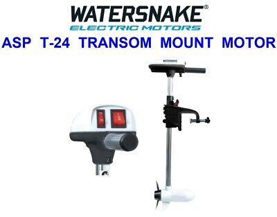 Watersnake Asp T24 Sw Electric Outboard Transom Mount Motor Fly Boat Fishing • 150£