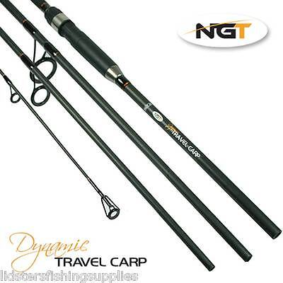 Dynamic Travel Carp Fishing 11ft 3.3M 4pc 2.75lb Carbon Rod NGT Quality Tackle • 44.59£