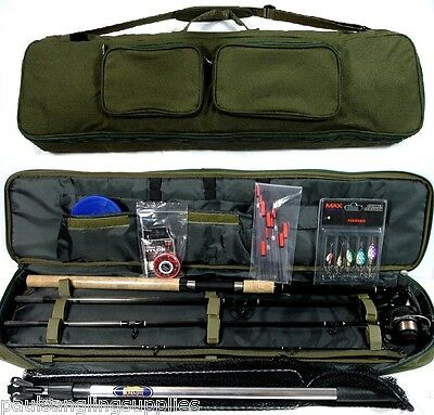 Spinning Fishing Kit  Rod ,Reel , Floats , Shot ,Spinners,Net, Hooks Bag   • 113.33£