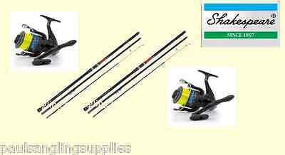 2 X Shakespeare Omni 13ft Beachcasting Fishing Rods & Shizuka  Reels & Line • 114£