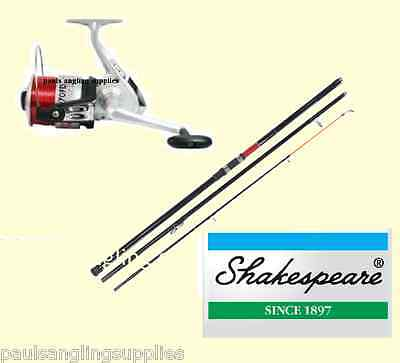 Shakespeare Omni 13ft Beachcasting Fishing Rods & Linaeffe Silk Reel & Line • 49.07£
