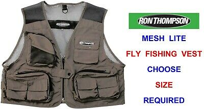 Ron Thompson Mesh Lite Fly Vest Waistcoat Wading Trout Fly Rod Fishing Jacket • 19.90£