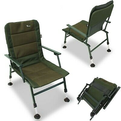 NGT XPR Carp Coarse Fishing Sturdy Chair With Arm Rests With Mud Feet Brand New • 59.95£