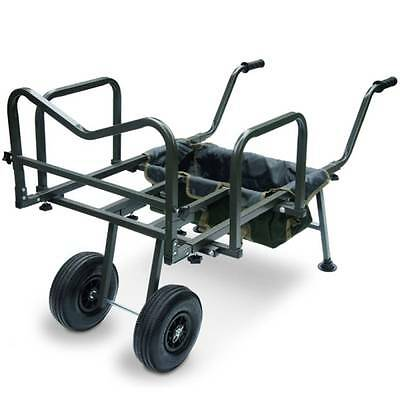 New Ngt Dynamic Carp Fishing Barrow Trolley Double Wheeled Coarse Angling Tackle • 94.95£