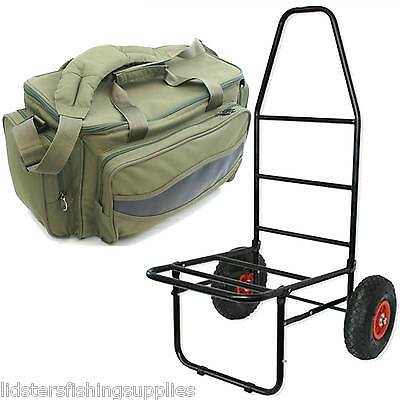 New NGT Classic Folding Fishing Trolley + 909 Green Carp Insulated NGT Bag  • 59.95£