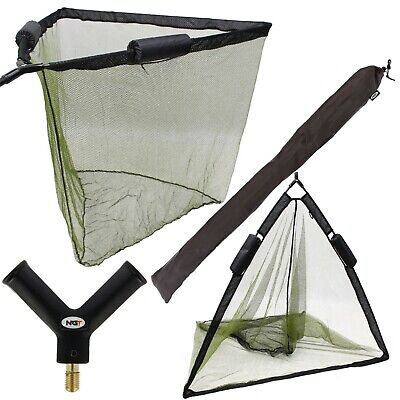 50  Inch Large Carp Pike Fishing Landing Net With Dual 2 Net Floats NGT Tackle • 23.95£