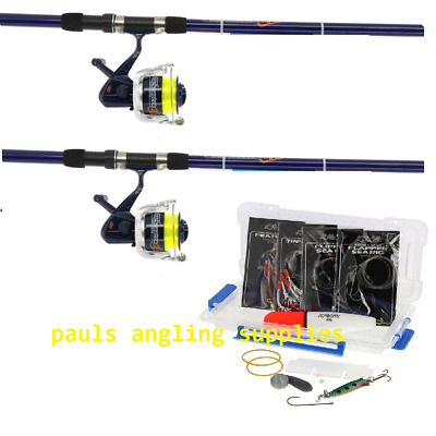 NGT 12ft  Sea Fishing Beach Beachcasting Rods Reels & Tackle Float Hooks Weights • 79.95£