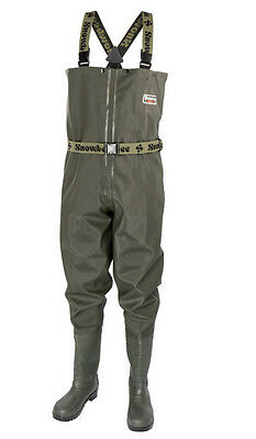 SNOWBEE Granite PVC Fishing Chest Waders Cleated Sole - All Sizes  • 49.99£