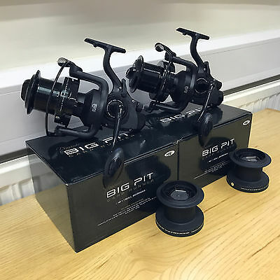 2 Dynamic 9000 NGT 10BB Big Pit Large Carp Fishing Reels FREE Runner Spare Spool • 89.95£