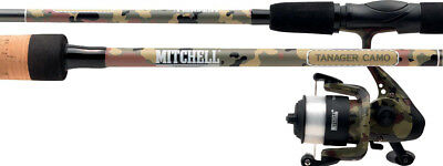 Mitchell NEW Tanager CAMO Spin Combo's - ROD + REEL + LINE!  • 24.99£