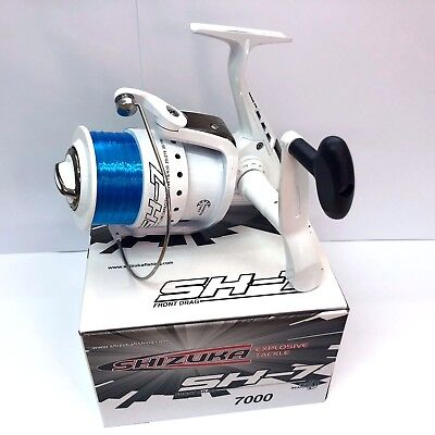 Shizuka Sk7 70 Sea Large Lineaeffe Fishing Beach Pier Reel With Line White • 26.05£