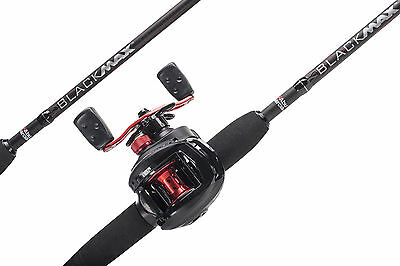 Abu Garcia NEW BLACK MAX Baitcast Combo Rod & Reel - 6ft 6  - 1376703  • 71.95£