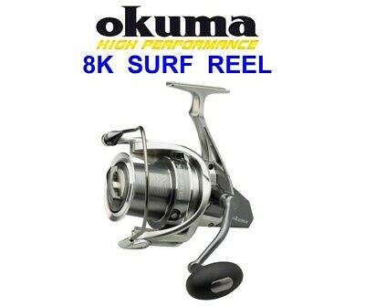 Okuma Surf 8k Sea Reel Front Drag Fixed Spool Saltwater Big Pit Spinning Fishing • 66.90£