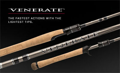 ABU Garcia NEW Venerate (Cork Handle) Spinning / Casting Rods - All Sizes   • 39.99£