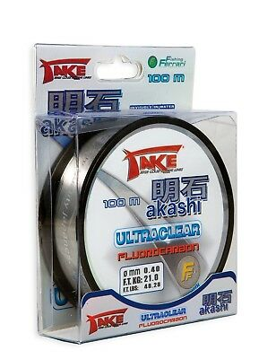 Take Akashi Fluorocarbon Ultra Clear Line - 100m Spool - All Breaking Strains  • 6.99£