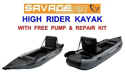 Pre Order Savage Gear High Rider Kayak Sea Game Coarse Canoe Catfish Belly Boat  • 689.99£