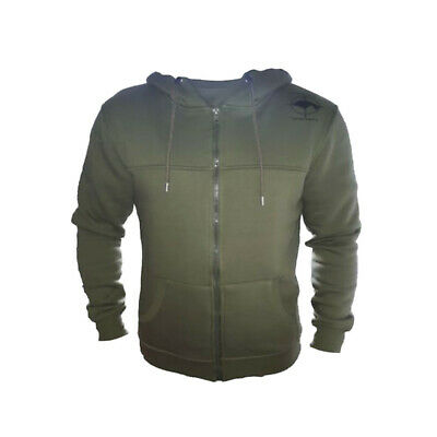 Carp Fishing Mens Hoodie Green Olive Size Medium Large Extra Large S M L XL • 10£