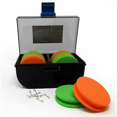 King Carp Mixed  EVA Winder Box With  10 Winders For Rig Hook Lengths Etc • 10.62£