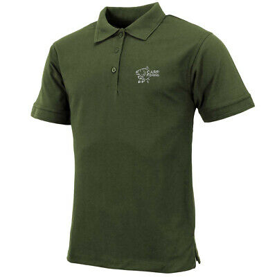 Carp Fishing Gift Clothing Embroidered Heavyweight Polo Shirt. • 14£