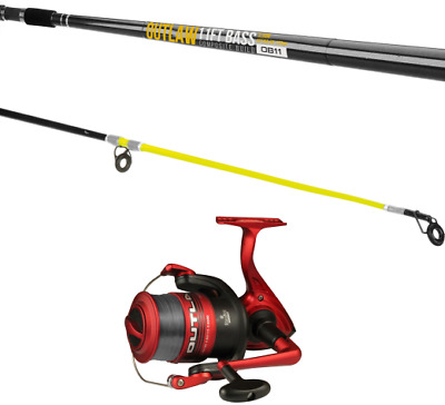 SeaTech Outlaw Bass 11ft 2-4oz Rod And Outlaw Spin 60 Reel With Line Combo • 37.99£