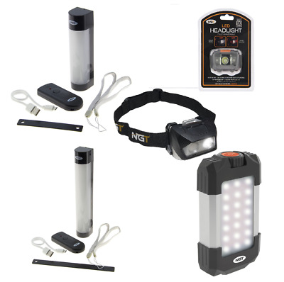 NGT Fishing  Bivvy Light , Headlamps , Nightlight For Carp Fishing Powerbank • 26.49£