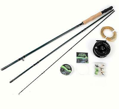 Matt Hayes Fly Fishing Kit Set Rod Reel Line Flys Backing Leader     99-8003 • 44.95£