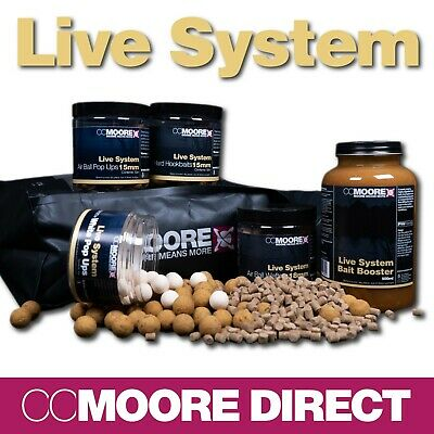 Cc Moore Live System Boilies, Pop Ups, Wafters, Pellets, Bag Mix, Booster Range • 13.50£