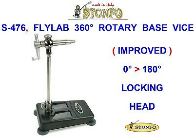 Stonfo S-476 Flylab 360° Rotary Base Vice For Fly Tying Pike Trout Dry Wet Flies • 86.99£