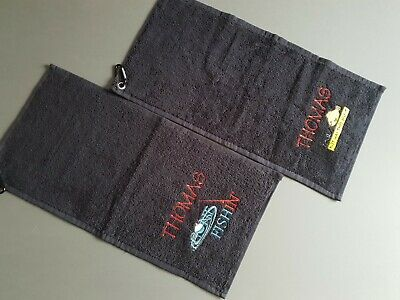 Personalised Fishing Towel 2 Designs & 5 Colours To Choose From Great Present • 6.15£