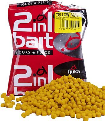 Yellow Fjuka 2in1 Bait. The Soft Feed Pellet ThatÂ's A Perfect Hookbait. • 4.39£