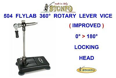 Stonfo S-504 Flylab 360° Rotary Lever Base Vice For Fly Tying Trout Salmon Flies • 118.99£
