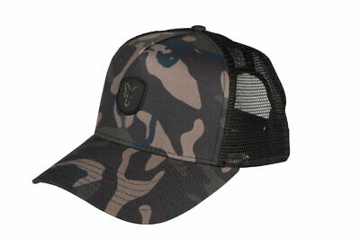 FOX NEW Camo TRUCKER Hat - Carp Fishing Cap - CHH006 • 16.99£