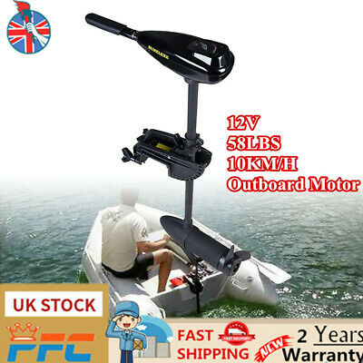 12V Electric Trolling Motor 58 LBS Outboard Engine Fishing Boat Motor Freshwater • 139£