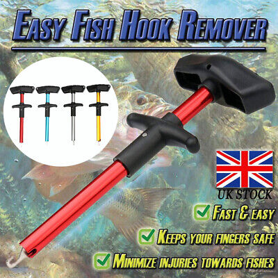 Easy Fish Hook Remover T-Handle Extractor Detacher Fishing Tackle Tool Portable • 4.49£